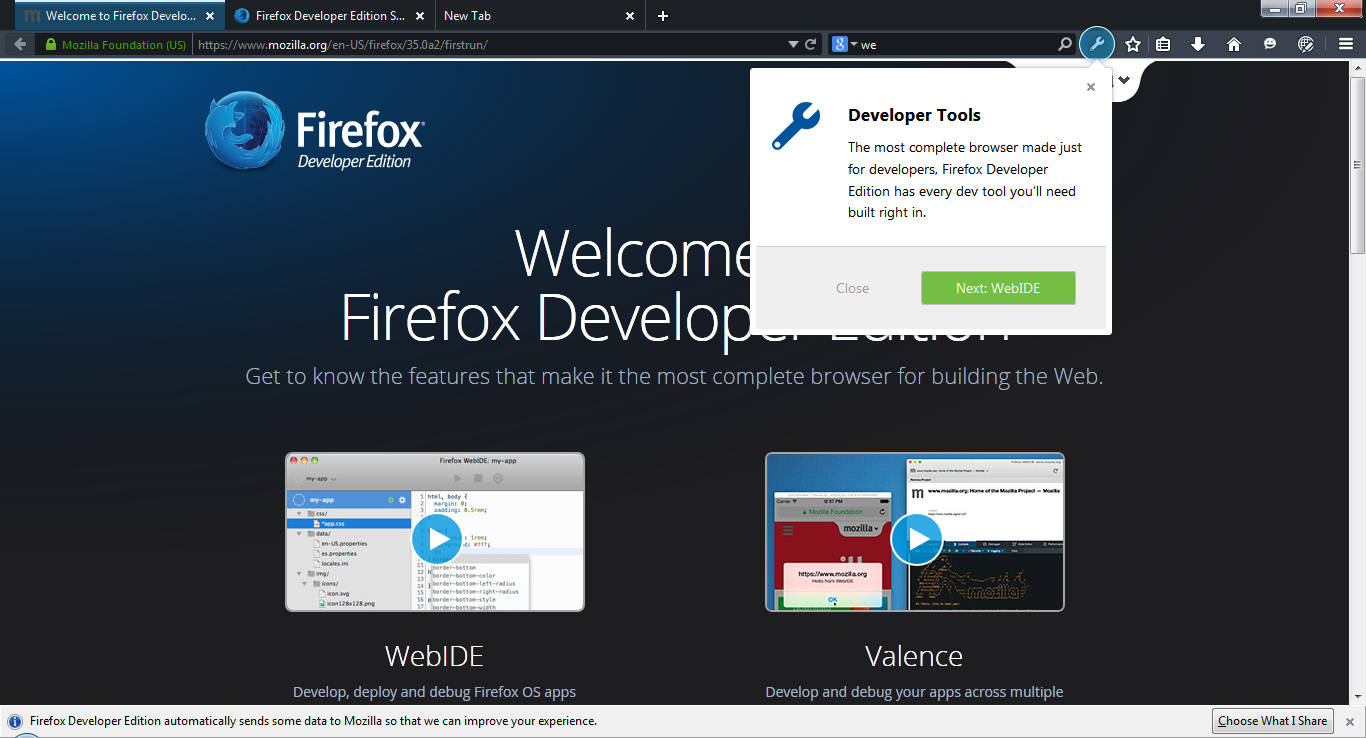Mozilla Introduces Firefox Developer Edition